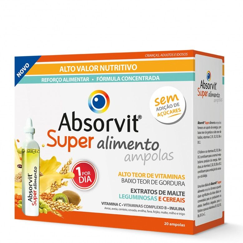 Absorvit Super Alimento 20 ampolas 15ml