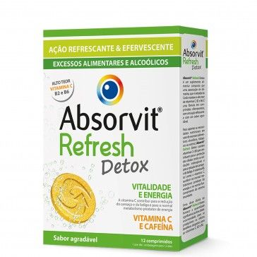 Absorvit Refresh Detox 12 Comprimidos