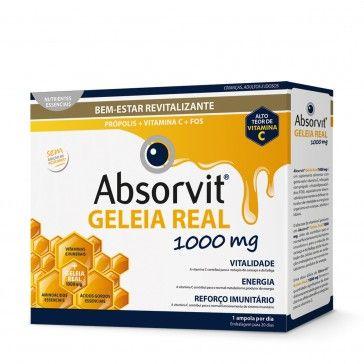 Absorvit Geleia Real 1000mg 20 Ampolas