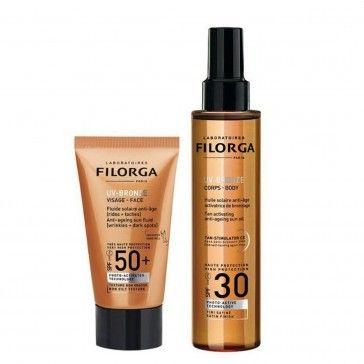 Filorga UV-Bronze Face FPS50+ 40ml + UV-Bronze Corpo SPF30 150mL
