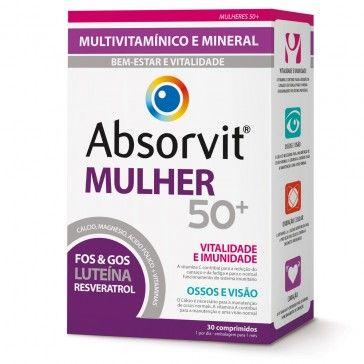 Absorvit Mulher 50+ 30 Comprimido