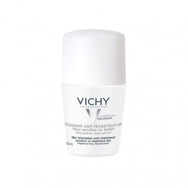Vichy Desodorizante Anti-transpirante Roll On Pele Sensível 50ml