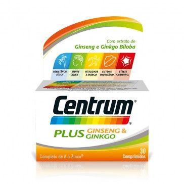 Centrum Plus Ginseng & Ginkgo 30/60 Comprimidos