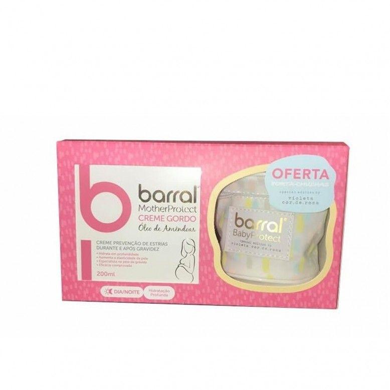 Barral MotherProtect Creme Gordo 200ml + Oferta BabyProtect Porta-chupeta