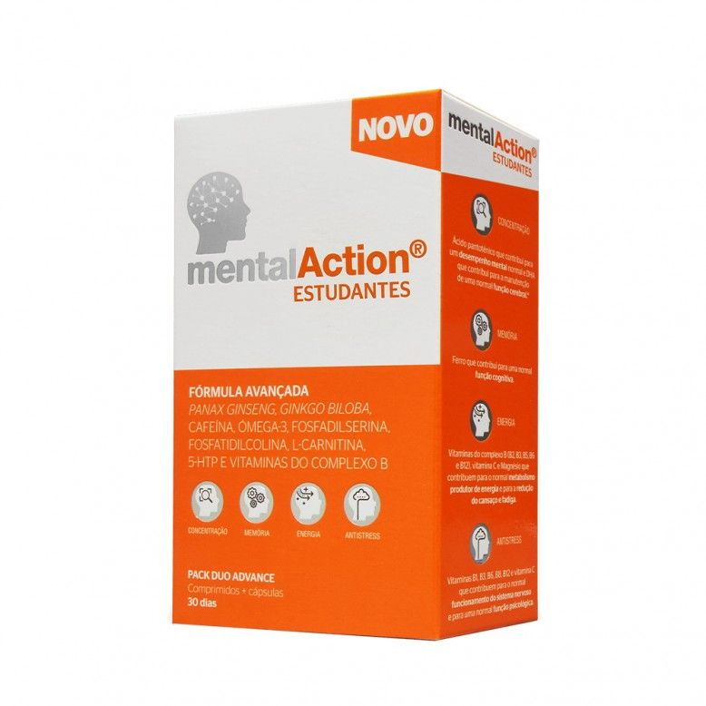 MentalAction Students 30 Tablets + 30 Capsules