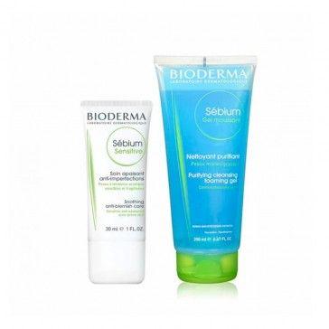 Bioderma Pack Sebium Sensitive Cream 30ml + Sébium Gel Moussant 200ml