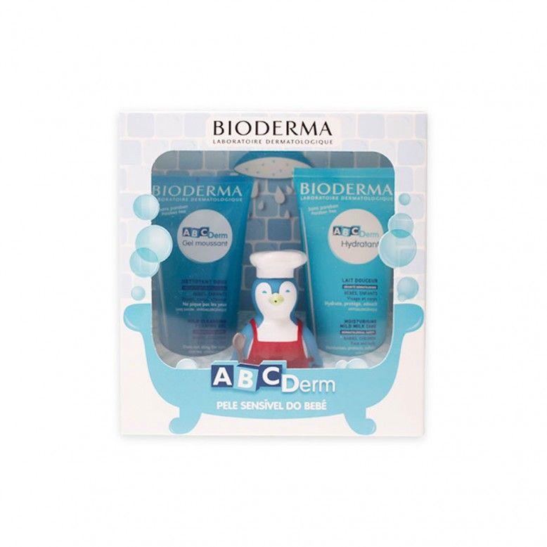 Bioderma ABCDerm Moussant 200ml + Leite Hidratante 200ml + Pinguim