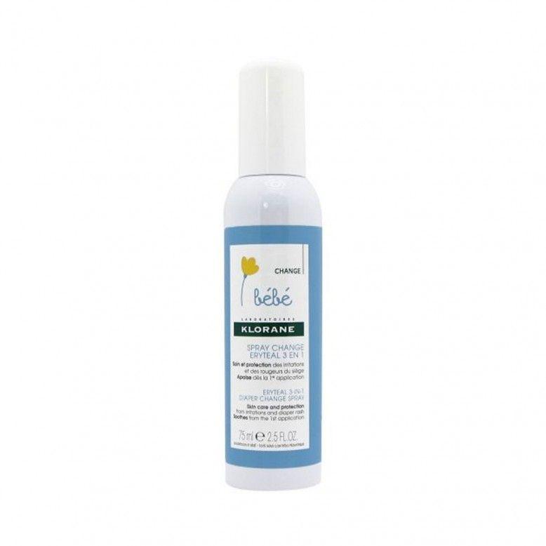 Klorane Bebé Eryteal 3 em 1 Spray Muda Fralda 75ml