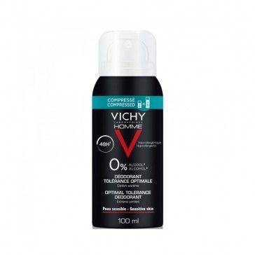 Vichy Homme Desodorizante Spray Hipoalergénico 48h Tolerância Óptima 100ml
