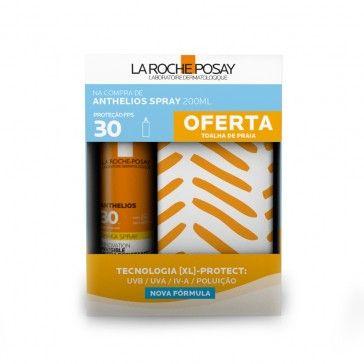La Roche-Posay Anthelios Spray Invisivel SPF30 200ml + Toalha de Praia