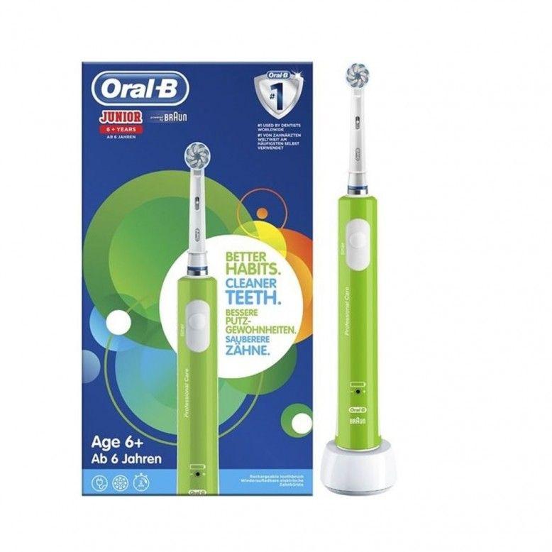 Oral-B Escova Elétrica Junior +6 Anos Verde