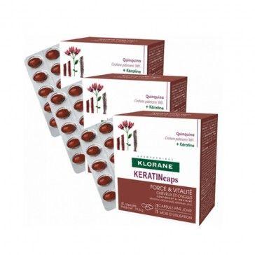 Klorane Keratincaps 3x30 Cápsulas