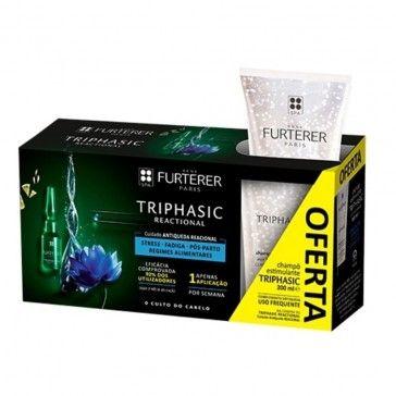 Rene Furterer Triphasic ATP Intensif 8 Ampolas+ Triphasic Champô Antiqueda 200ml