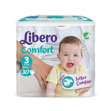 Libero Fraldas Comfort Fit T3 4-9Kg x30