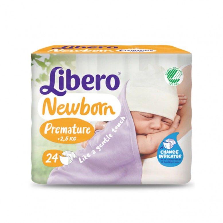 Libero Fraldas Newborn Premature até 2,5Kg x24