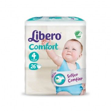 Libero Fraldas Comfort Fit T4 7-11Kg x26