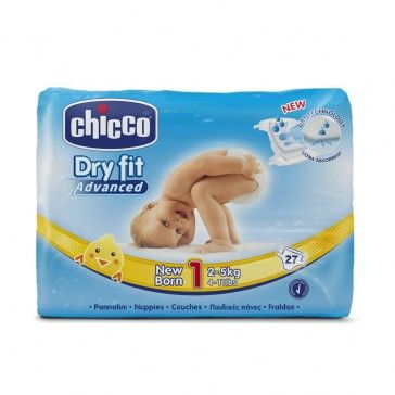 Chicco Fraldas Dry Fit New Born T1 2-5kg x27