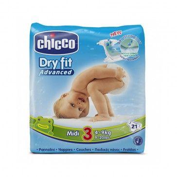 Chicco Fraldas Dry Fit Advanced T3 4-9kg x21