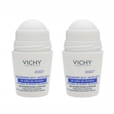Vichy Without Aluminum 48H Deo Roll On 2x50ml