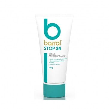 Barral Stop 24 Creme Antitranspirante 40g