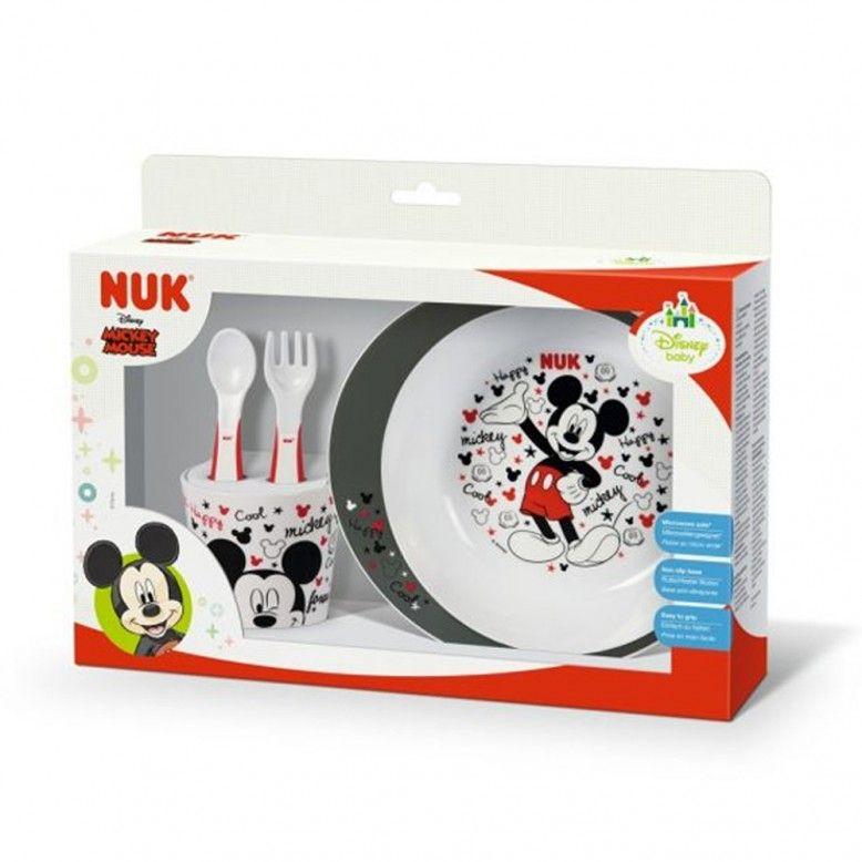 NUK Conjunto de mesa Mickey Mouse +9m