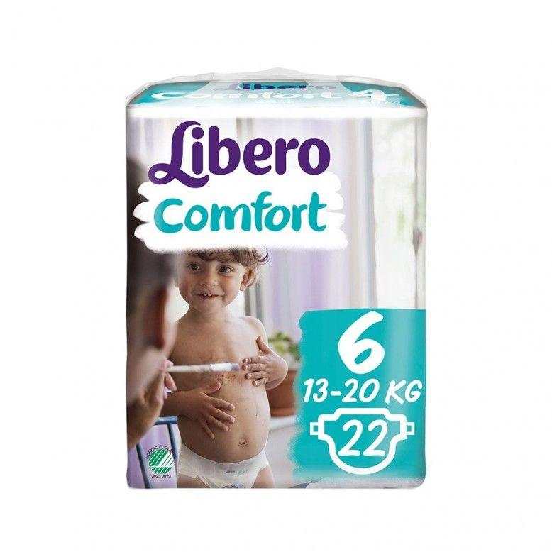 Libero Fraldas Comfort Fit T6 13-20Kg x22