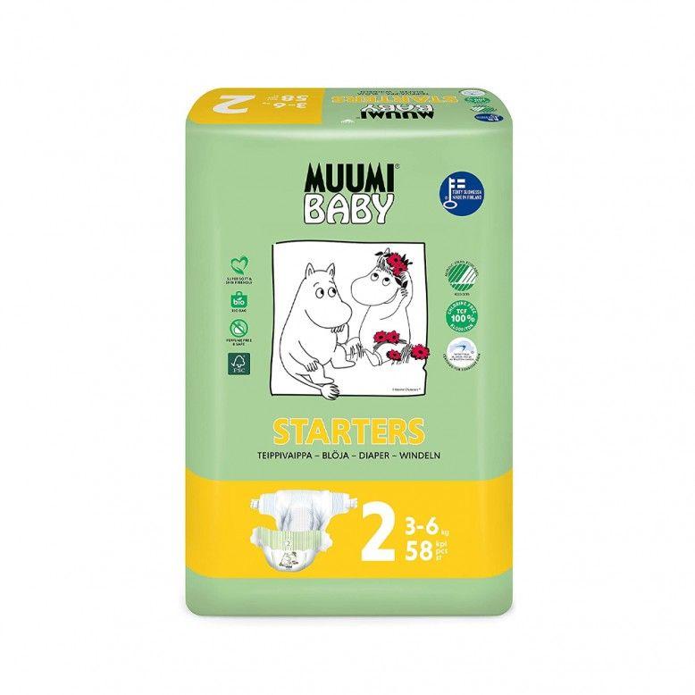Muumi Baby Fraldas T2 3-6kg x58