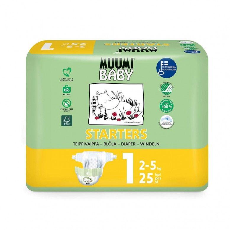 Muumi Baby Fraldas T1 2-5kg x25