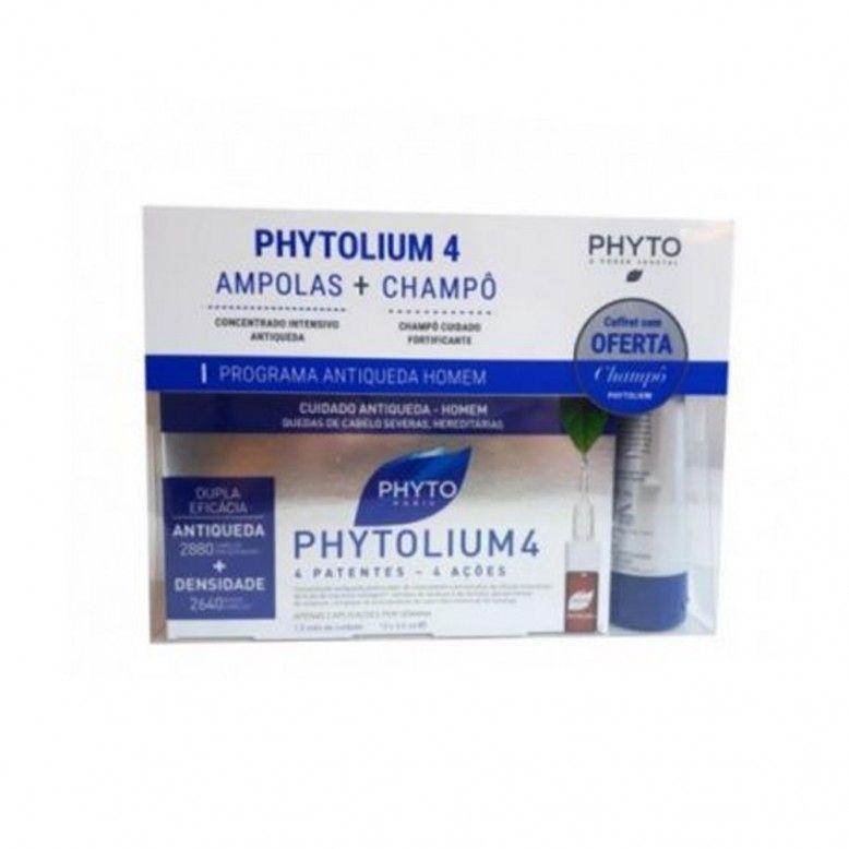 Phyto Phytolium 4 Shampoo Fortificante 125ml + 12 ampolas