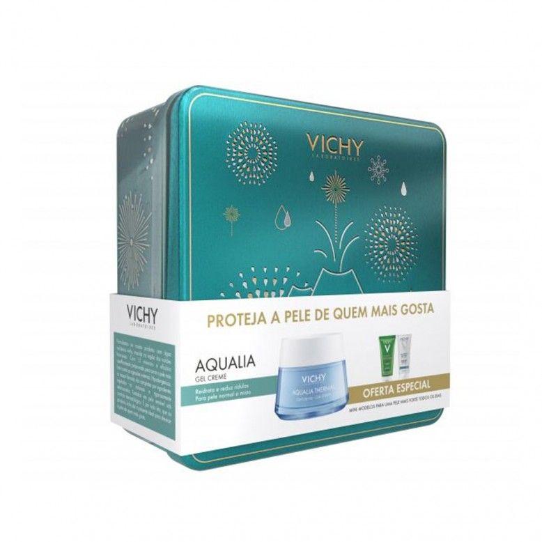 Vichy Coffret Aqualia Thermal Gel-Creme 50ml + Normaderm Phytosolution 50ml + Gel hidroalcoólico 50m