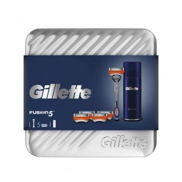 Gillette Fusion 5 Lâmina + 5 Recargas + Gel de Barbear Ultra Sensitive 75ml
