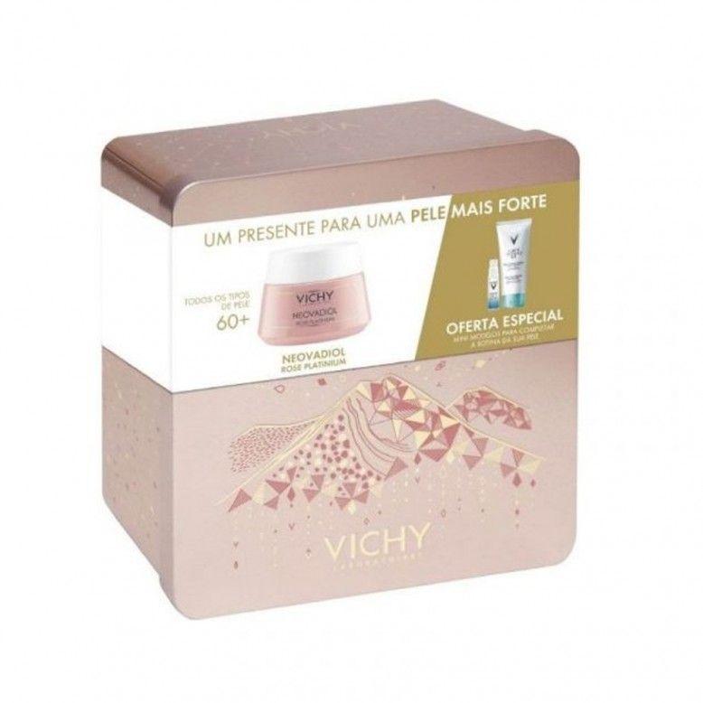 Vichy Coffret Neovadiol Rose Platinium 50ml + Minéral 89 10ml + Desmaquilhante 3em1 100ml