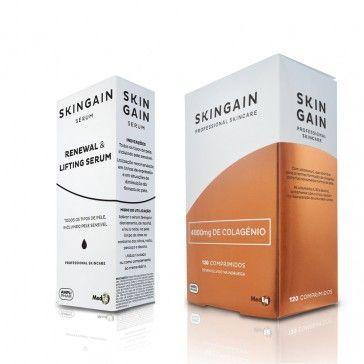 Skingain Pack 120 Comprimidos + Sérum Renewal e Lifting 30ml