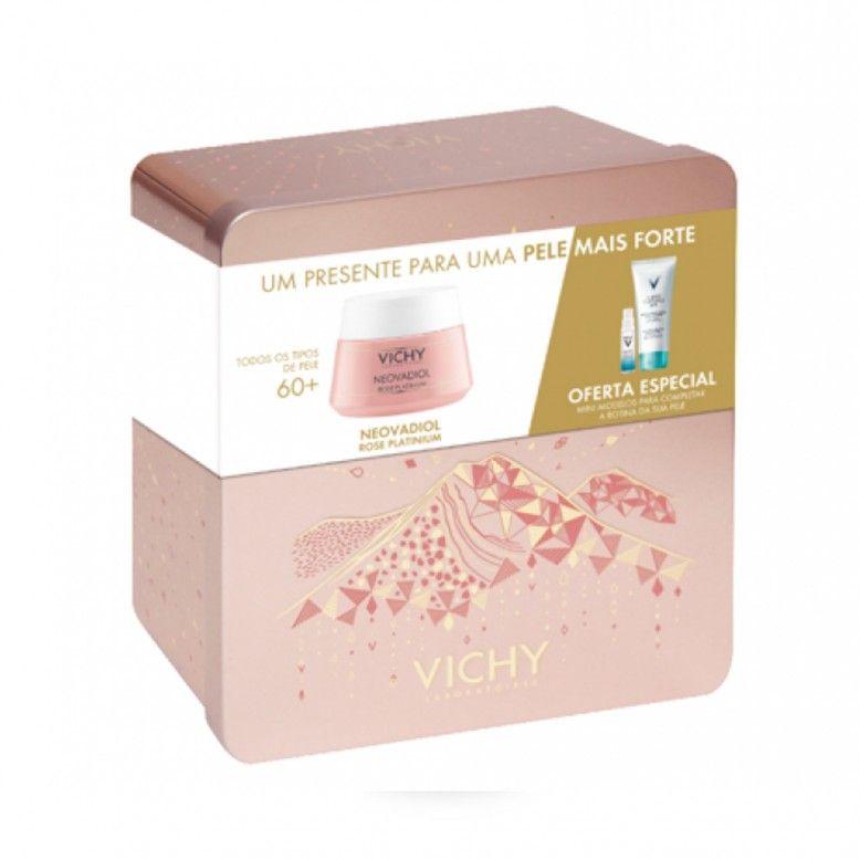 Vichy Neovadiol Rose platinium Creme 50 ml + Pureté Thermale Água micelar 100 ml + Minéral 89 Concen