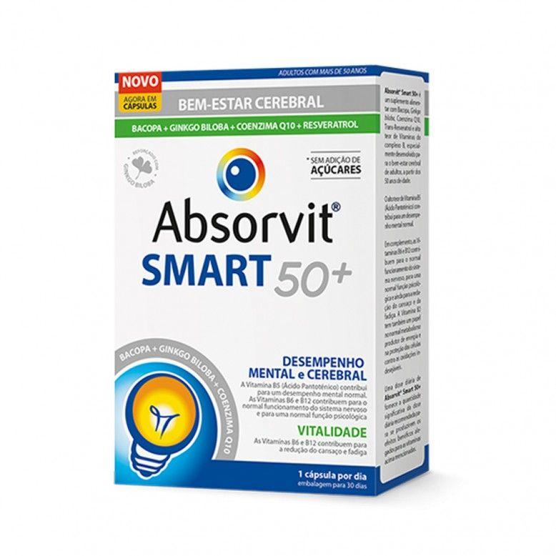 Absorvit Smart 50+ 30 cápsulas