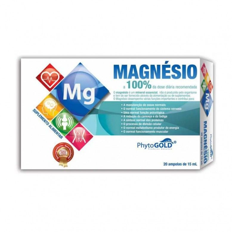 PhytoGOLD Magnesio 100% 20 ampolas