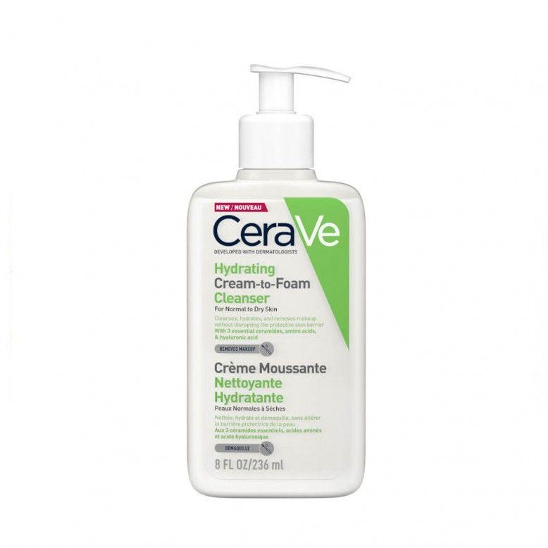 Cerave Hydrating Cream To Foam Cleanser Creme Espuma de Limpeza 236ml