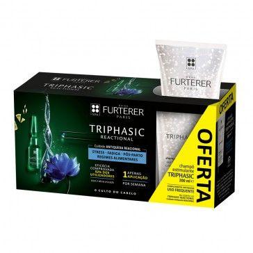 René Furterer Pack Triphasic Reactional 8 Ampoules + 100ml Shampoo