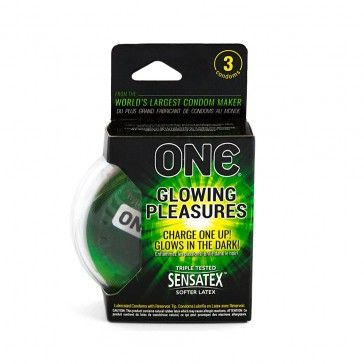 ONE Glowing Pleasures Preservativos x3