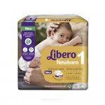 Libero Fraldas Newborn Recém-Nascido T1 2-5Kg x24