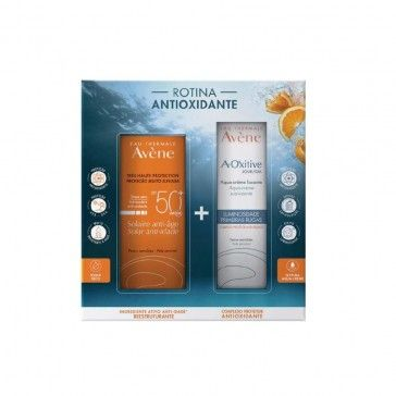 Avène Solar Anti-Ageing Cream Sensitive Skin SPF50+ 50ml + A-Oxitive Aqua-Day Cream Luminosity Pr