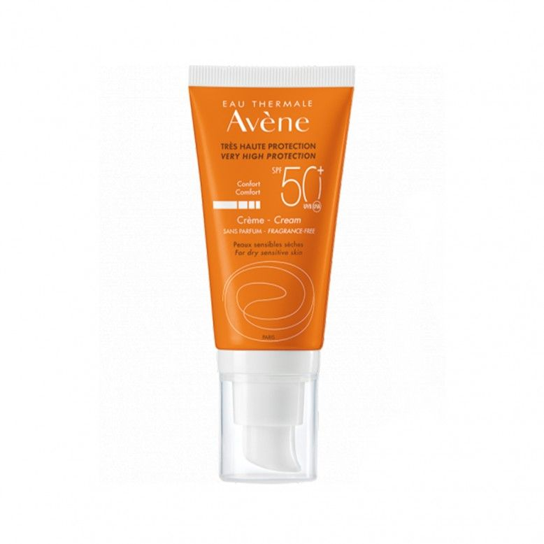 Avène Solar Face Cream Dry Touch Without Perfume SPF50+ 50ml