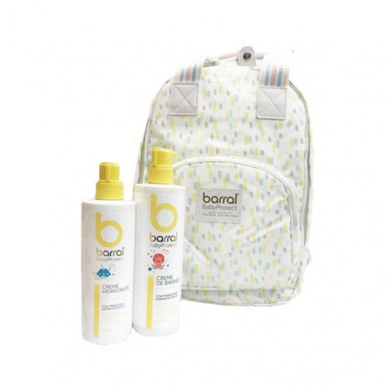 Barral BabyProtect Mochila + Creme de Banho 500ml + Creme Hidratante 400ml