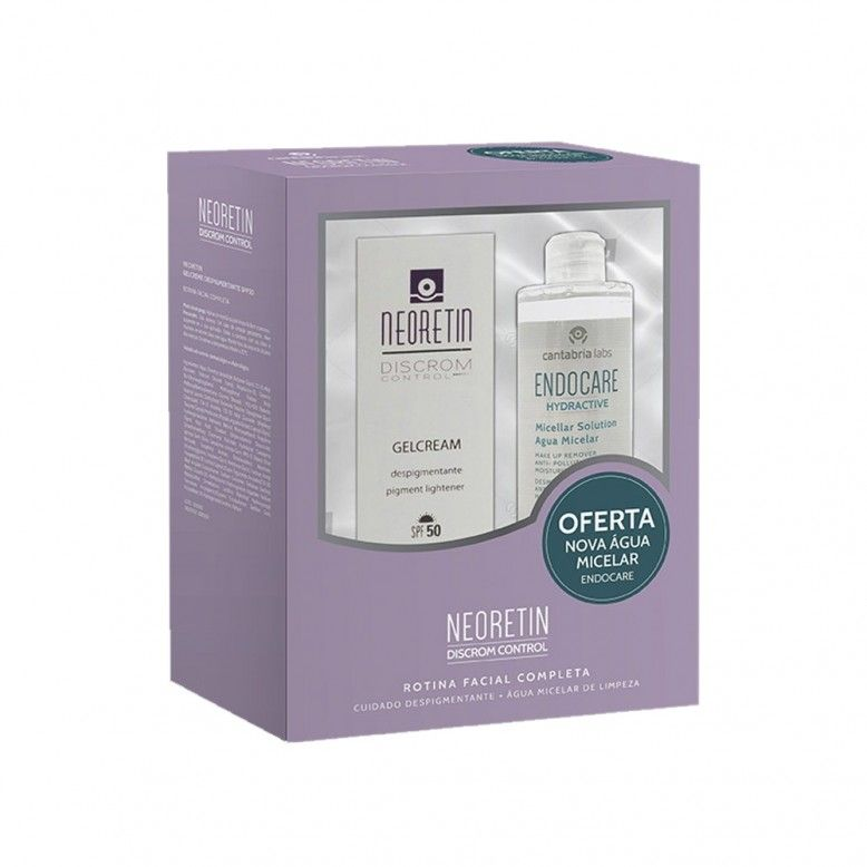 Neoretin Discrom Control Gel Creme Despigmentante SPF50 40ml + Endocare Hydractive Água Micelar 100m