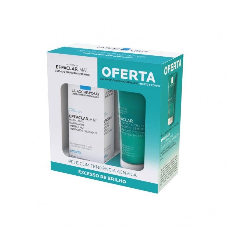 La Roche-Posay Pack Effaclar MAT 40ml + Gel Purificante Micropeeling 200ml