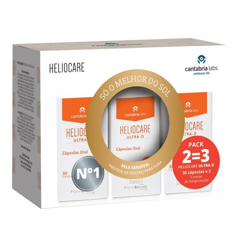 Heliocare Ultra D 3 x 30 cápsulas