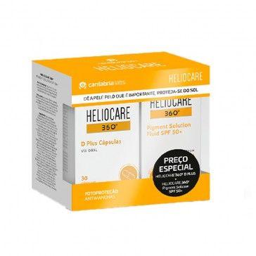 Heliocare 360 Pack Pigment Solution Fluido SPF50+ 50ml + D Plus 30 Cápsulas