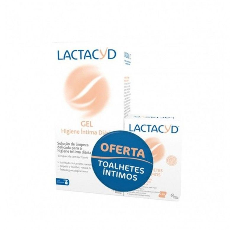 Lactacyd Gel Íntimo 400ml + 10 Toalhetes