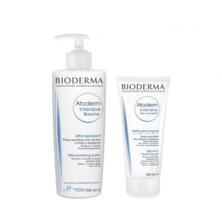 Bioderma Atoderm Intensive Pack Bálsamo Calmante 500ml + Gel Limpeza 200ml