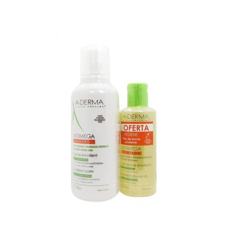 A-Derma Exomega Control Creme Emoliente 400ml + Gel Moussant 200ml